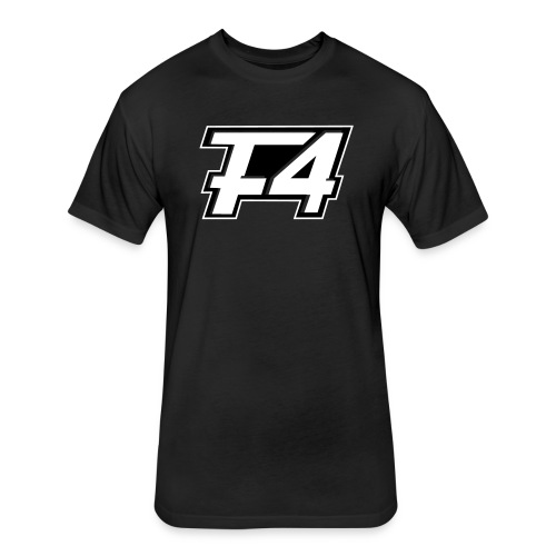 F4 White Logo Shirt - Fitted Cotton/Poly T-Shirt by Next Level