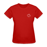 T-Shirts ~ Women's T-Shirt ~ Leaf Outline