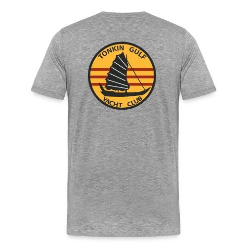 USS INDEPENDENCE CVA-62 TONKIN GULF YACHT CLUB - Men's Premium T-Shirt