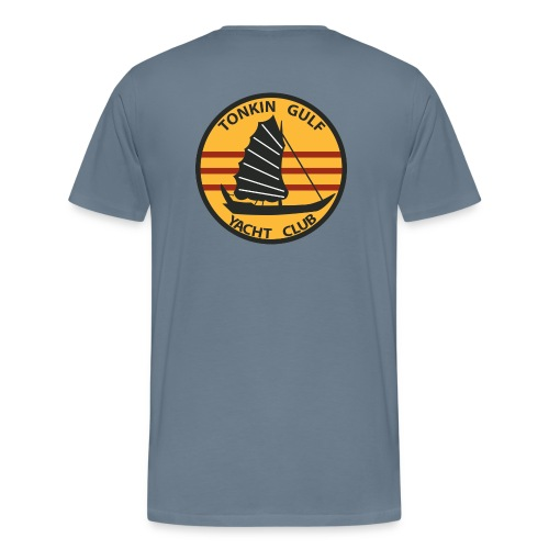 USS KITTY HAWK CVA-63 TONKIN GULF YACHT CLUB - Men's Premium T-Shirt