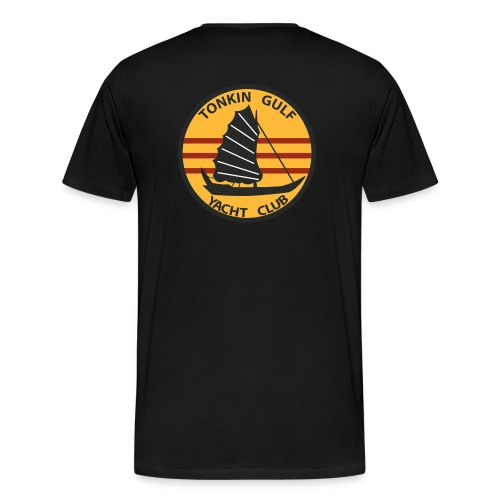 USS CONSTELLATION CVA-64 TONKIN GULF YACHT CLUB - Men's Premium T-Shirt