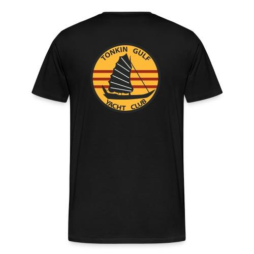 USS CONSTELLATION CVA-64 TONKIN GULF YACHT CLUB - Men's Premium T-Shirt