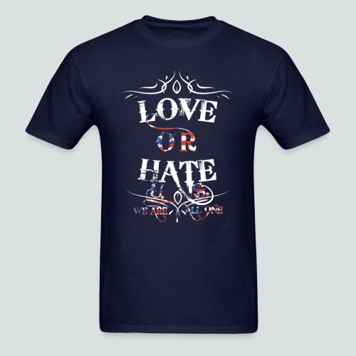 Love or Hate Tee Navy Blue - Men's T-Shirt