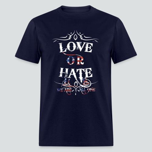 Love or Hate Tee Navy Blue - Men's T-Shirt