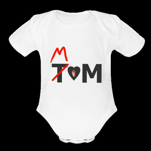 Tom/Mom Baby    - Organic Short Sleeve Baby Bodysuit