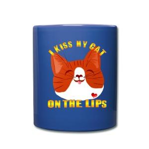 I Kiss My Cat On The Lips - Full Color Mug