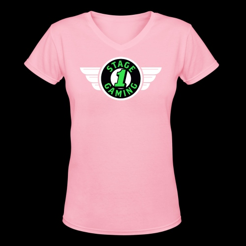 Authentic Stage 1 Gaming Tee - Pink - Womens - Women's V-Neck T-Shirt