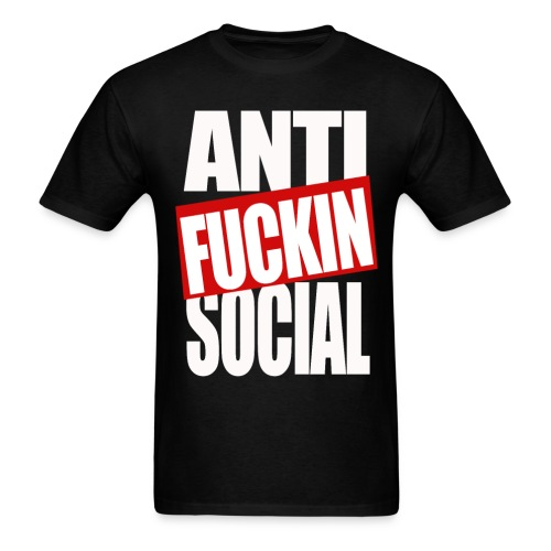 Anti fucking social - Men's T-Shirt