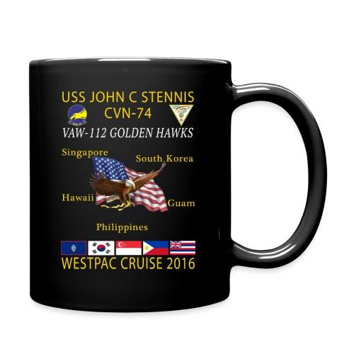 VAW-112 GOLDEN HAWKS w/ USS JOHN C STENNIS 2016 WESTPAC CRUISE MUG - Full Color Mug