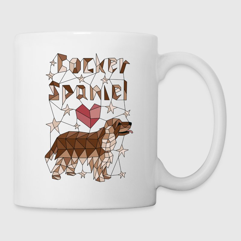 Geometric Cocker Spaniel Mugs & Drinkware - Coffee/Tea Mug