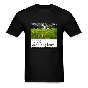 kiwimana Buzz - Black Mens T-Shirt (Gildan) - Men's T-Shirt