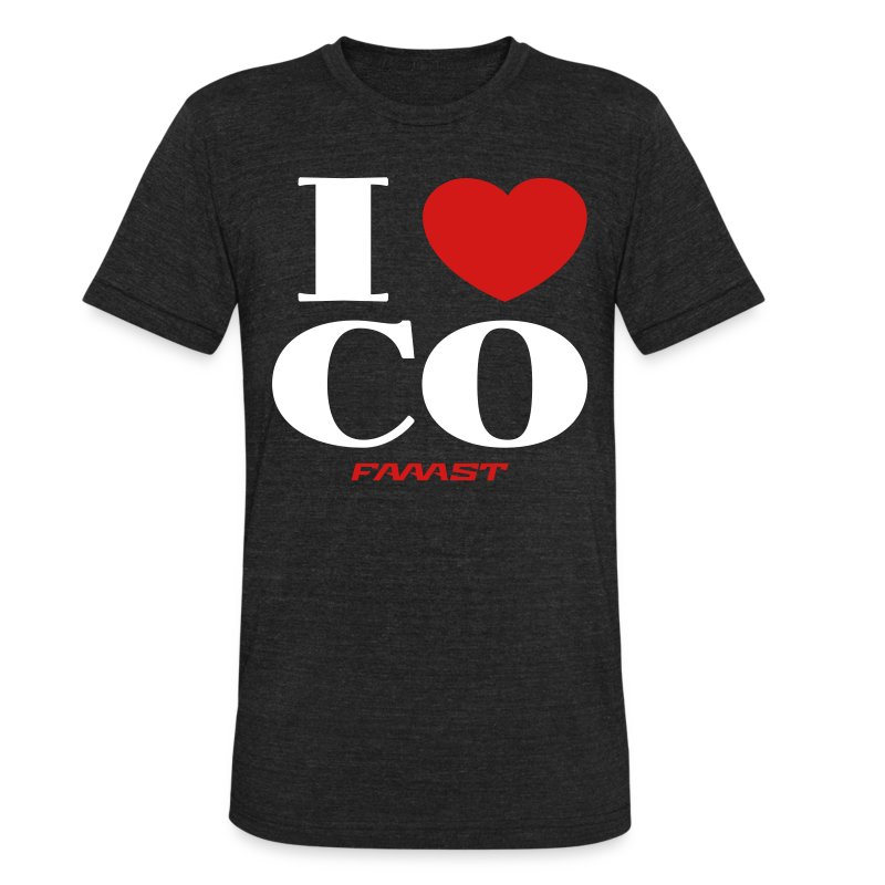 I love CO - Unisex Tri-Blend T-Shirt by American Apparel
