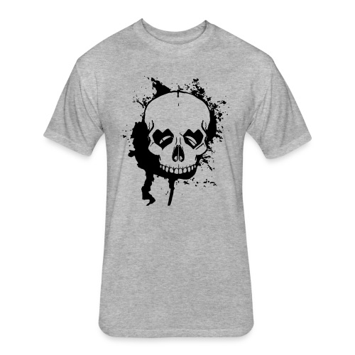 Skull Head with Loving Eyes - Fitted Cotton/Poly T-Shirt by Next Level
