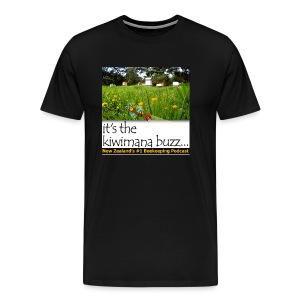 kiwimana Buzz - Black Mens T-Shirt (Spreadshirt) - Men's Premium T-Shirt