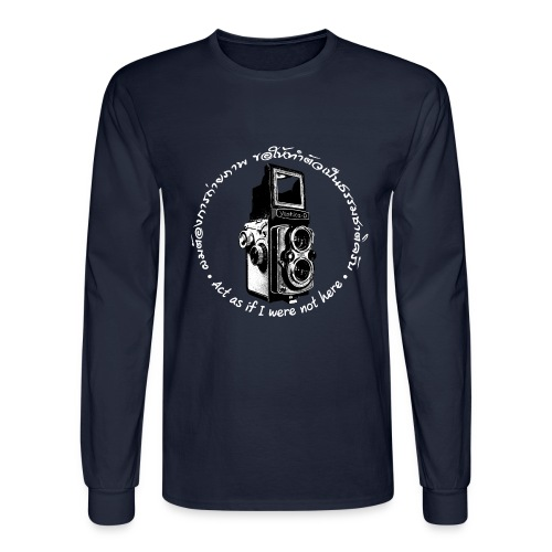 Act as if I were not here En-Th (Yashica Bi-white) - Men's Long Sleeve T-Shirt
