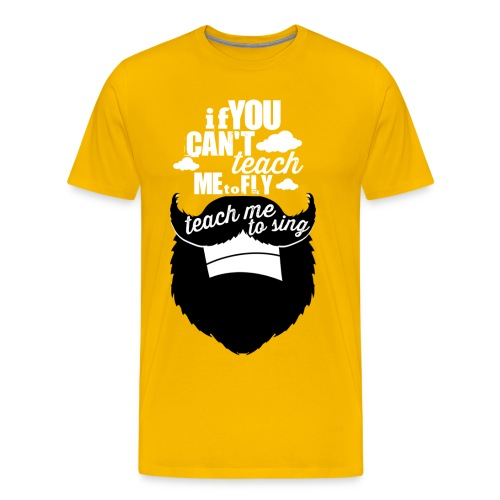 Original Neverbear Teach Me To Sing (T-Shirt) - Men's Premium T-Shirt