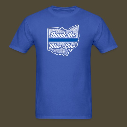 Blue Line Ohio - Men's T-Shirt