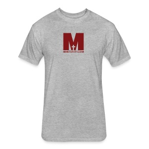 Manturity.com RED - Fitted Cotton/Poly T-Shirt by Next Level