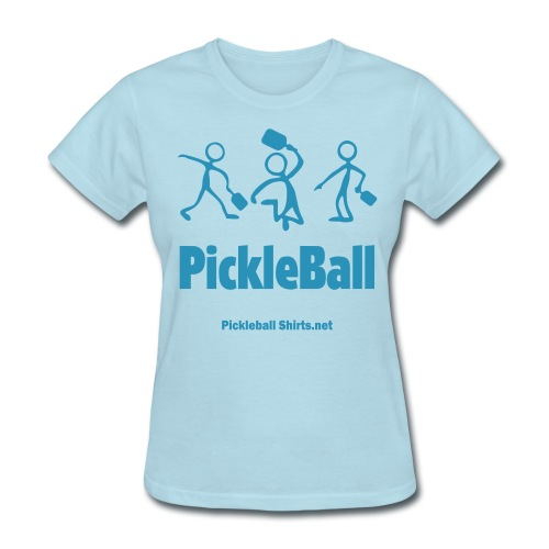 Pickleball Friends 1 Color Print On Front & Arm Flock 3D Printing1 - Women's T-Shirt
