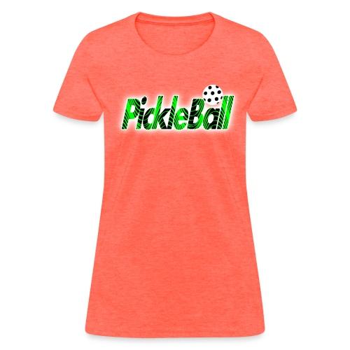 Womens Pickleball Green Swirl - Women's T-Shirt