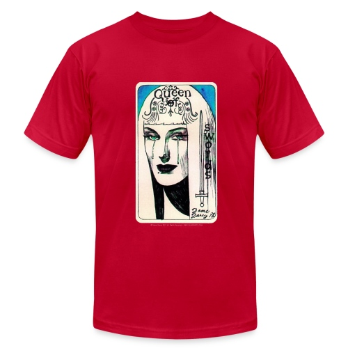 Queen of Swords - by Dame Darcy - Men's Fine Jersey T-Shirt