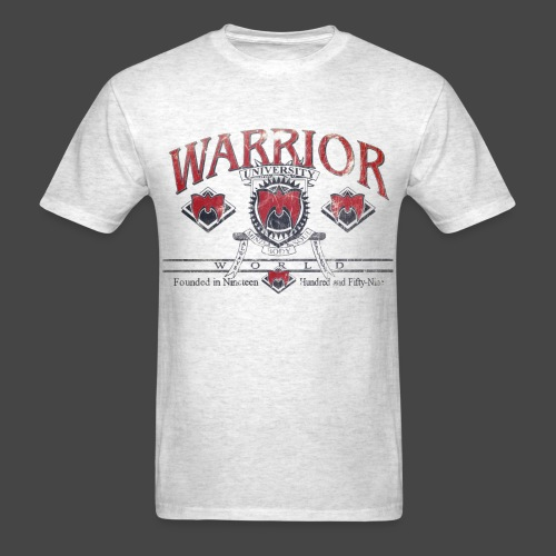 Warrior University Distressed Shirt - Men's T-Shirt