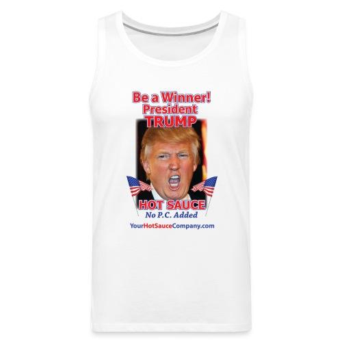 President Trump Hot Sauce Men's Tank Top - Men's Premium Tank
