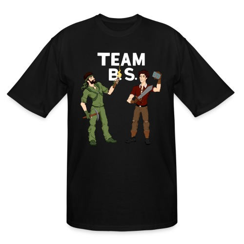 Team B.S. Men's Tall T-Shirt (Style 3) (Black) - Men's Tall T-Shirt