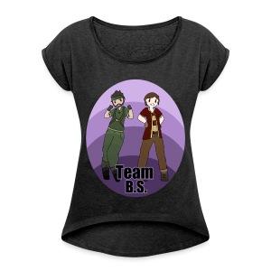 Team B.S. Women´s Rolled Sleeve Boxy T-Shirt (Style 1) - Women's Roll Cuff T-Shirt