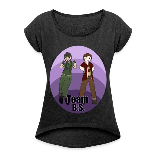 Team B.S. Women´s Rolled Sleeve Boxy T-Shirt (Style 1) - Women's Roll Cuff T-Shirt