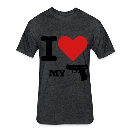 Gun Lover T - Fitted Cotton/Poly T-Shirt by Next Level