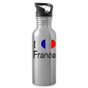 I Love France Water Bottle - Water Bottle