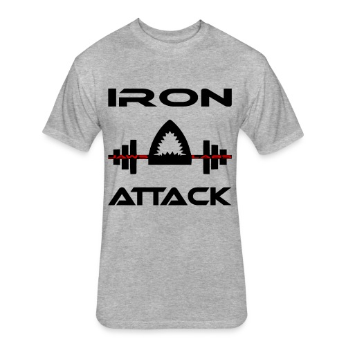 IRON ATTACK TEE - Fitted Cotton/Poly T-Shirt by Next Level