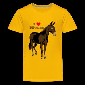 I Love Mules - Kid's - Kids' Premium T-Shirt