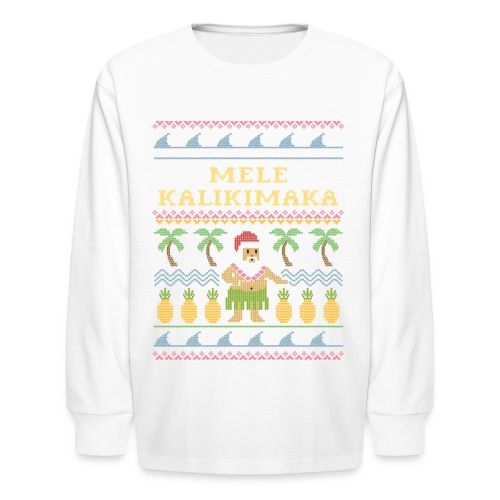 Mele Kalikimaka - Hawaiian Christmas - Kids' Long Sleeve T-Shirt
