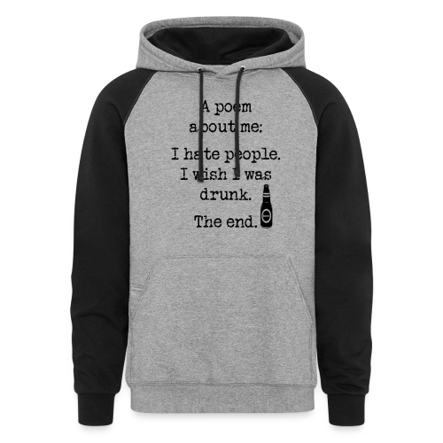 I Wish I Was Drunk Colorblock Hoodie - Colorblock Hoodie