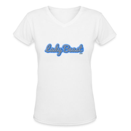Lady Beast - Women's V-Neck T-Shirt