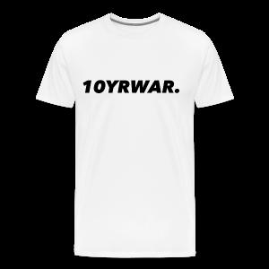 10YRWAR LOGO TEE WHT - Men's Premium T-Shirt