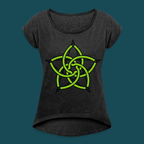 Women's rolled sleeve Boxy T-shirt  - Women's Roll Cuff T-Shirt