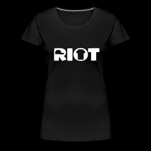 Women's Riot T-Shirt Large White Logo - Women's Premium T-Shirt