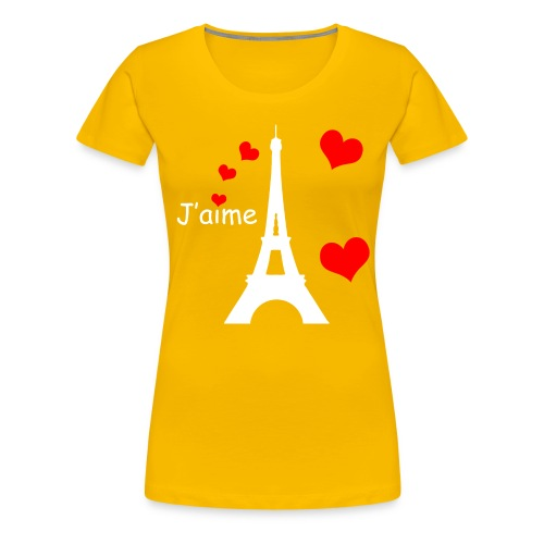 Women's Eiffel Tower T-Shirt (White Text) - Women's Premium T-Shirt