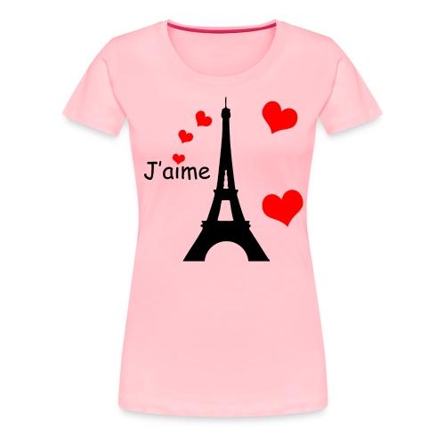 Women's Eiffel Tower T-Shirt (Black Text) - Women's Premium T-Shirt