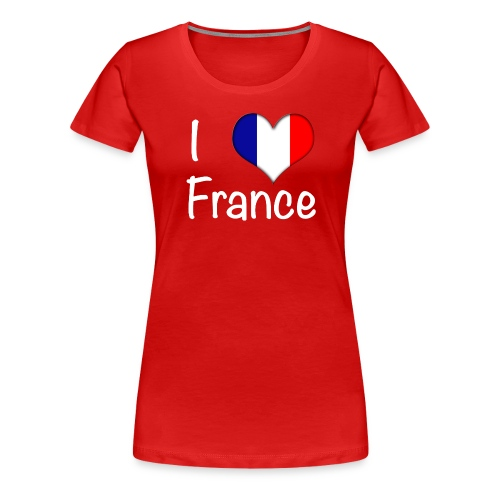 Women's I Love France T-Shirt (White Text) - Women's Premium T-Shirt
