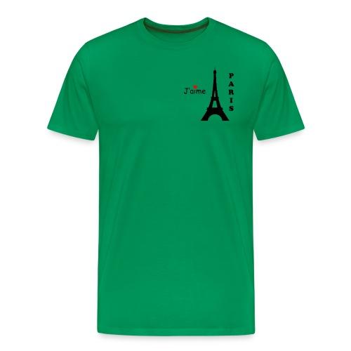 Men's J'aime Paris T-Shirt (Black Text) - Men's Premium T-Shirt