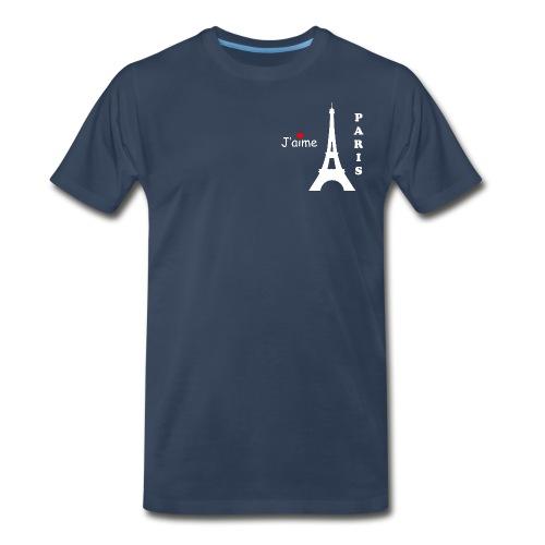 Men's J'aime Paris T-Shirt (White Text) - Men's Premium T-Shirt