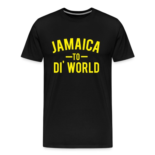 Jamaica to di world (blk) - Men's Premium T-Shirt