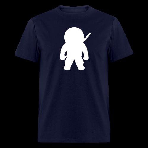 NINJA LOGO TEE - WHT ON NAVY - Men's T-Shirt