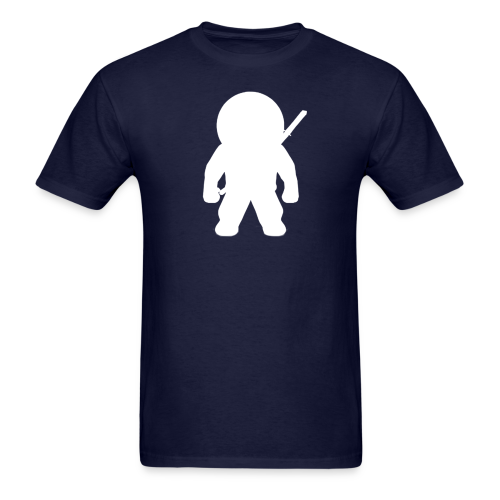 NINJA LOGO TEE - WHT ON NAVY - Men's T-Shirt