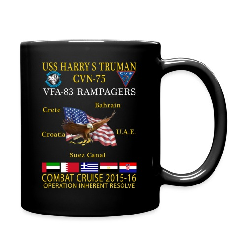 USS HARRY S TRUMAN w/ VFA-83 RAMPAGERS 2015-16 COMBAT CRUISE MUG - Full Color Mug
