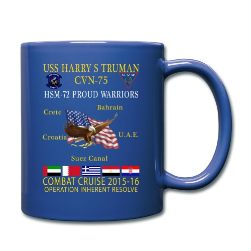 USS HARRY S TRUMAN w/ HSM-72 PROUD WARRIORS  2015-16 COMBAT CRUISE MUG - Full Color Mug